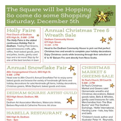 Holiday Shopping in the Square on 12/5!