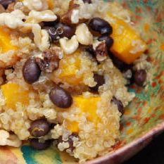 Quinoa, Roasted Squash, and Black Bean Salad with Toasted Walnuts