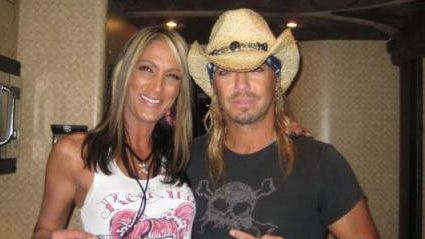 "T for Two - Cheeky Diva owner Jacqui Getz and longtime pal Bret Michaels, former lead singer of ""Poison"" and star of ""Celebrity Apprentice,"" met up recently at the Comcast Center where Michaels was performing. Jacqui is wearing a ""Rock Thiz Clothing"" tank designed by celebrity tattoo artist ""Tattoo Tony,"" who she also hung out with that night. Cheeky Diva is the only store on the East coast to carry this clothing line."