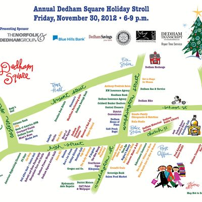 2012 Dedham Square Holiday Stroll Map & Directory