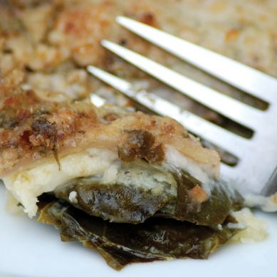 Kale Lasagna with Walnut Pesto