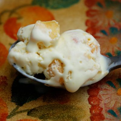 Peach Bourbon Ice Cream