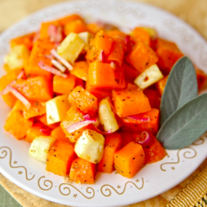 Roasted Butternut Squash and Parsnips