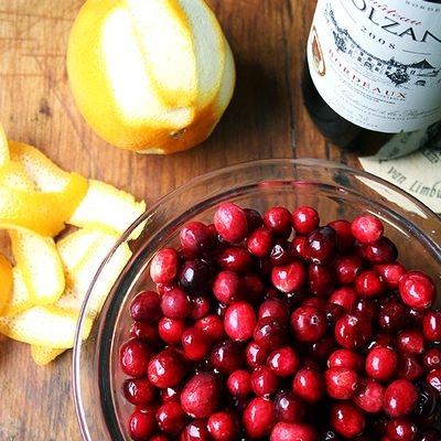 Cranberry Sauce with Red Wine and Orange Peel
