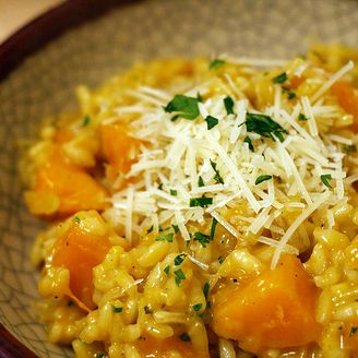Sage & Blue Hubbard Squash Risotto with Swiss Chard